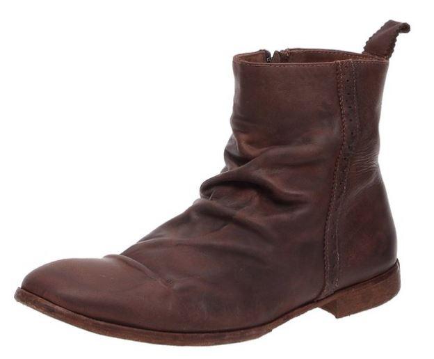 Boots Neosens Cotton Club, en cuir froissé marron, avec fermeture éclair