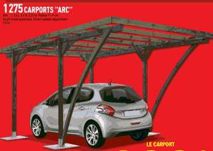 Carport Arc - 3x5m - 1 voiture -  Pin traité Autoclave