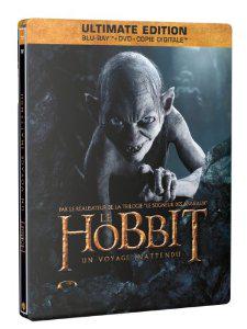 Coffret Blu ray Le Hobbit : Un voyage inattendu Ultimate Edition - Blu-ray + DVD + Copie digitale - SteelBook Gollum