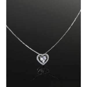 Collier Le Diamantaire Or 375° Diamants et Topaze
