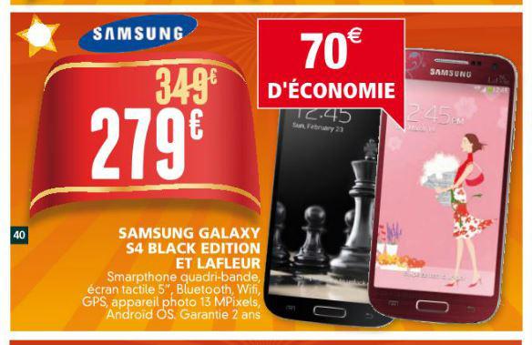 Smartphone Samsung Galaxy S4 Black Edition ou La Fleur Edition