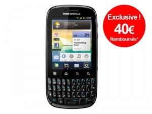 Smartphone Motorola Fire Black XT311 avec ODR (40€)