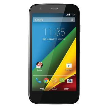 Smartphone Motorola Moto G 4G, 8 GO noir (30€ ODR) + 15€ en bons d'achat