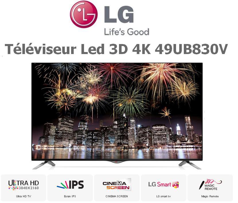 "TV LG LED 3D UHD 4K UB830V 49"" - 49UB830V (200€ ODR)"