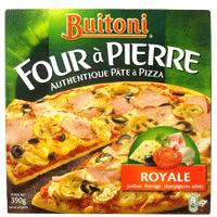 Pizza buitoni four à pierre thon, 4 fromages ou bolognaise
