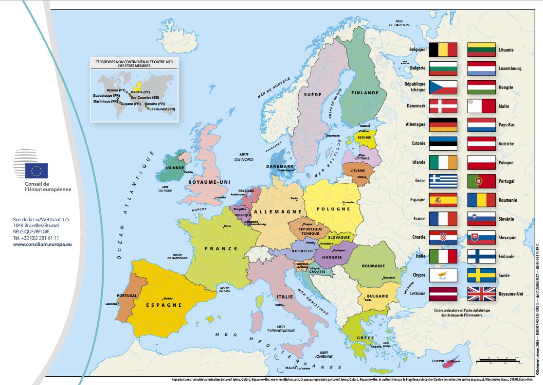 Carte de l'Union européenne 2014 (format papier) gratuite