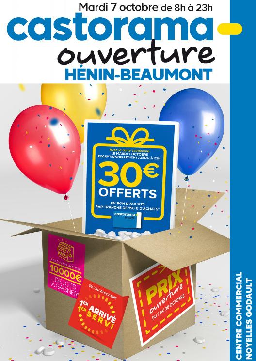 30€ offerts en bon d'achats par tranche de 150€ d'achats avec la carte