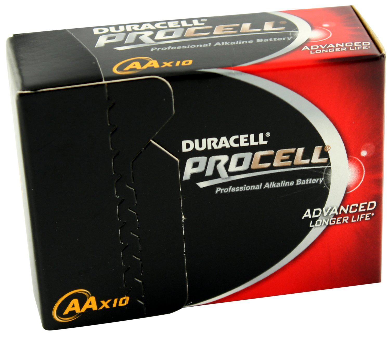 Lot de 10 Piles LR6 AA Duracell Procell