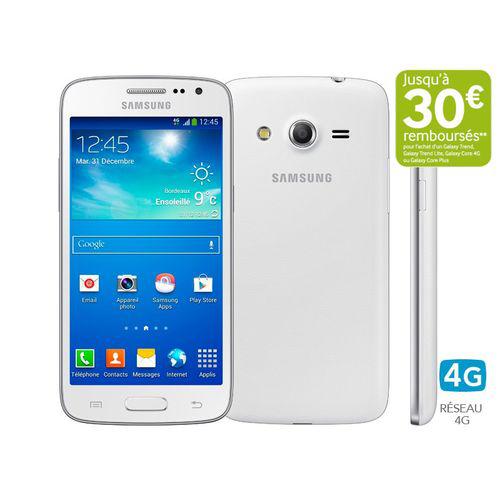 Smartphone Samsung Galaxy Core 4G blanc (Avec ODR de 30€)