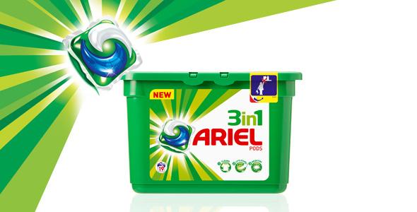 Lessive Ariel 3en1 Pods - 30 lavages (40% sur la carte fidélité)