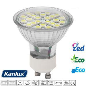 Ampoule GU10 à 24 Leds SMD 5050 Blanc froid ou Chaud