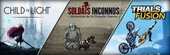 Ubi Arcade Pack (Child of Light, Soldats Inconnus & Trials Fusion) sur PC