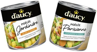 2 boîtes de conserves poelée D'aucy 580g