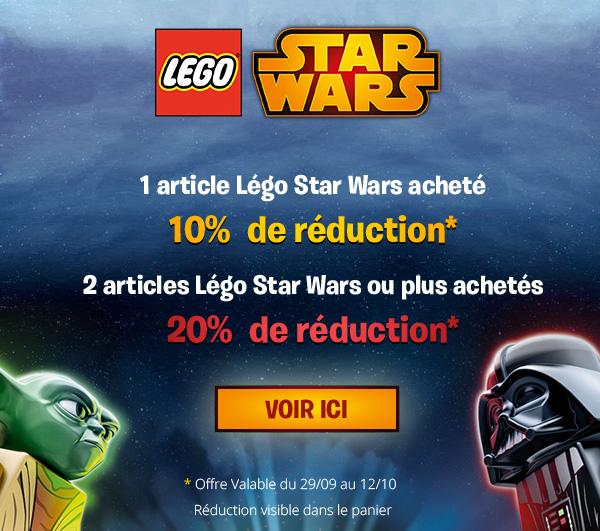 Jusqu'à 20% de réduction sur tous les Lego Star Wars