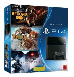 Triple pack PS4 + Killzone + Knack + inFamous