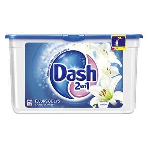 Lot de 2 packs de lessive 40 Écodoses Dash 2en1