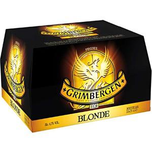 Bière blonde Grimbergen 20 x 25cl