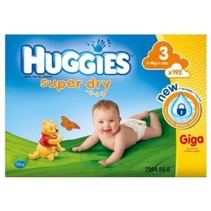 1 mégapack Huggies acheté + le 2ème à moitié prix - Soit 192 couches