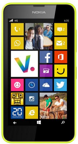 Smartphone Nokia Lumia 635 4G 8 Go Blanc/Noir/Vert/Jaune/Orange