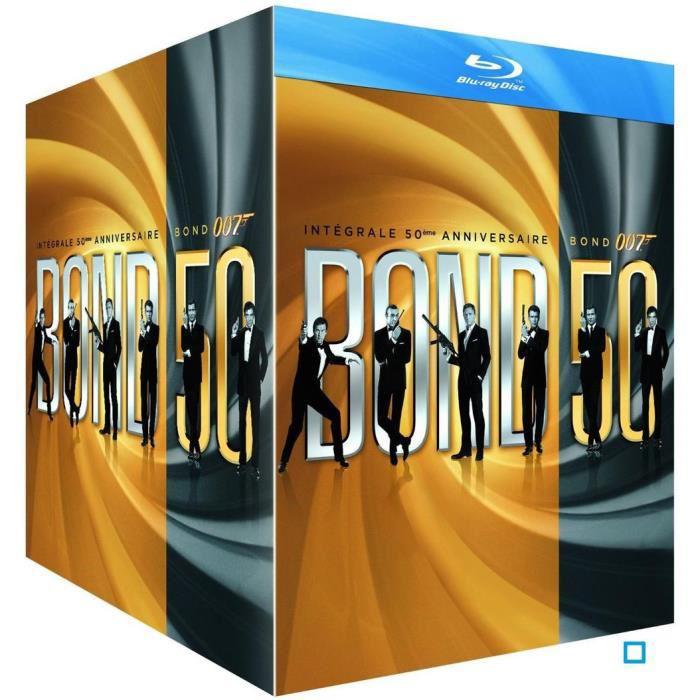 Coffret Blu-Ray Intégrale James Bond 50ème anniversaire (23 films)