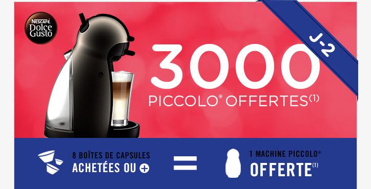 Machine à café Dolce Gusto Piccolo offerte pour 8 boîtes de capsules achetées
