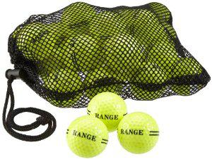 500 balles de golf jaune fluo (10 centimes la balle)