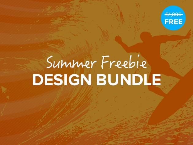 Pack de ressources graphiques The Summer Freebie Design Bundle gratuit