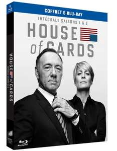 Coffret Blu-ray House of Cards - Saisons 1 et 2 + Bon d'achat Amazon de 10€,