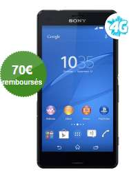 Smartphone Sony Xperia Z3 Compact noir 4G (70€ ODR)