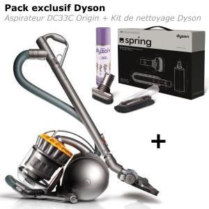 Aspirateur sans sac Dyson DC33C Origin + Kit de nettoyage de printemps