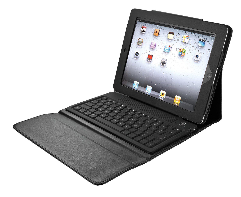Housse Trust 17839 en simili cuir + clavier Bluetooth pour iPad 2 (noir)