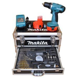 Coffret Perceuse Makita 2x14,4V + 59 accessoires
