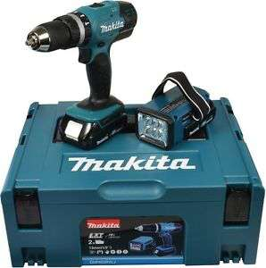 Perceuse à percussion et lampe Makita DHP453RYJ (18V)