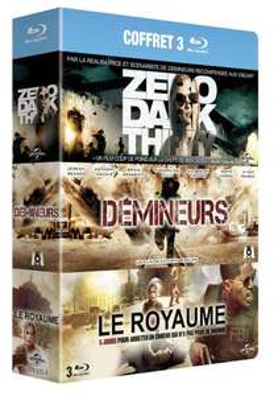 Coffret Blu-ray 3 films - Zero Dark Thirty + Démineurs + Le Royaume