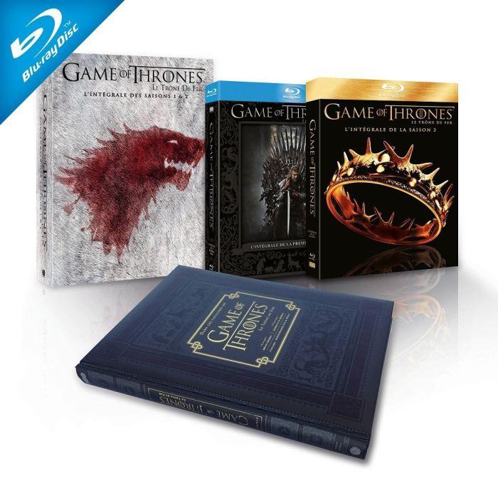 Coffret Blu-ray Game of Thrones (Le Trône de Fer) - L'intégrale des saisons 1 & 2 [Édition limitée - Inclus le livre]