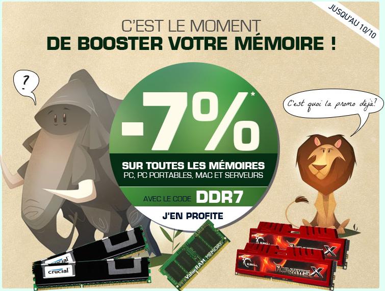 -7% sur la mémoire RAM