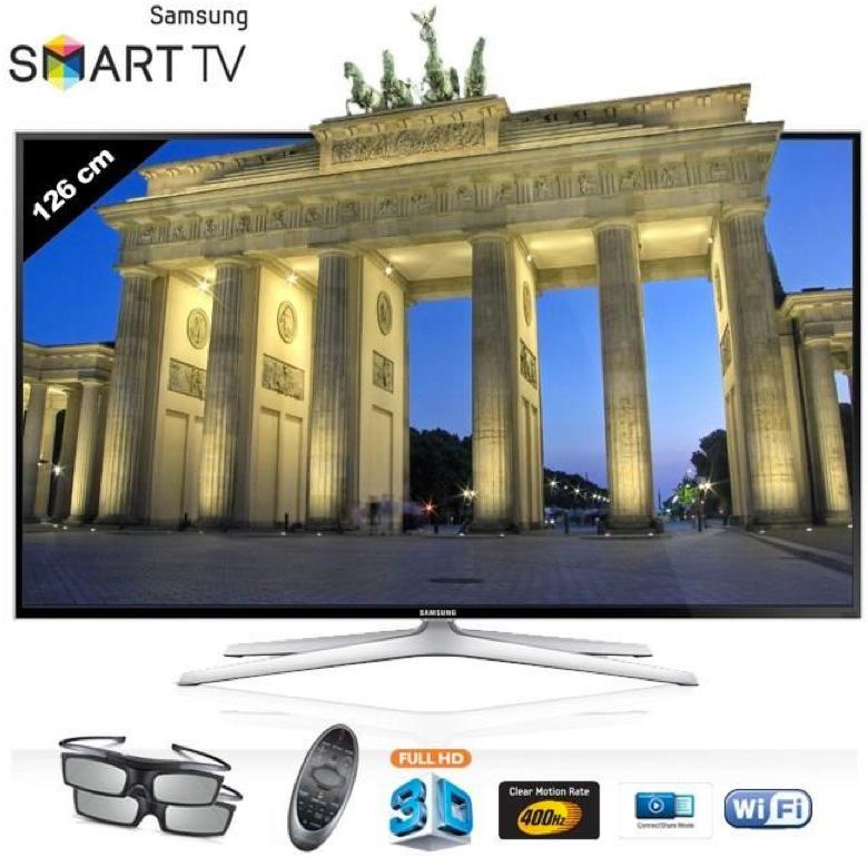 """Téléviseur 3D LED 50"""" (126 cm) SAMSUNG UE50H6400 Smart TV 3D"""