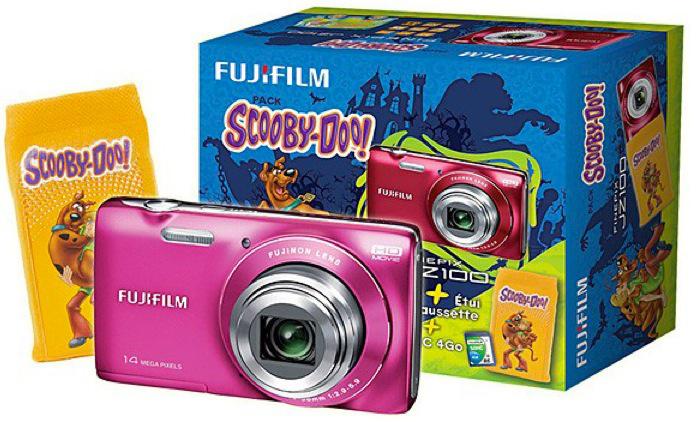 Appareil Photo Numérique Finepix JZ100 Rose  + Etui chaussette Scooby-Doo + Carte SD 4Go