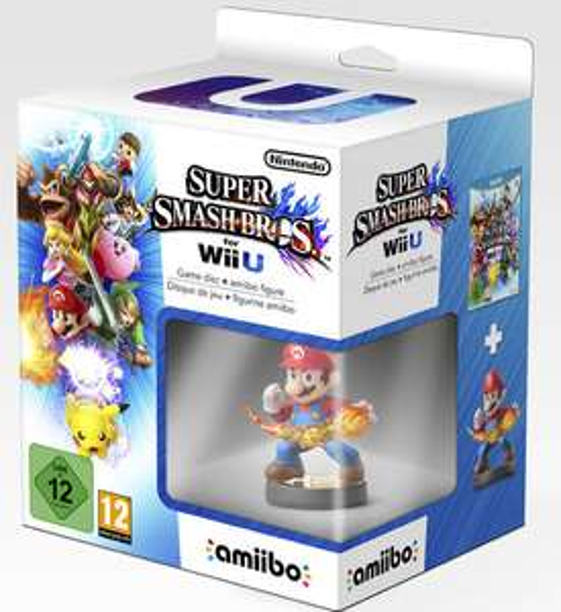 [Précommande] Jeu Super Smash Bros sur Wii U + Figurine Amiibo Mario + Porte Clefs