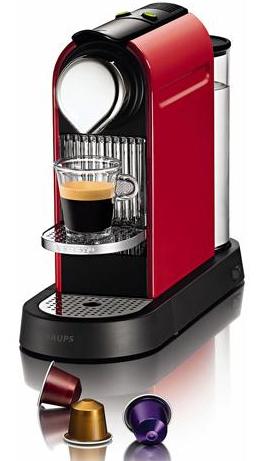 [Adhérents] Machine à café Krups - YY1471FD - Nespresso Citiz Rouge Flamme (+ 70€ offerts en chèque cadeau)