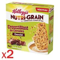Lot de 2 paquets de biscuits Petit Déjeuner Nutri-Grain Kellogg's