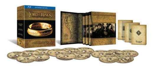 La Trilogie Le Seigneur des Anneaux - Version Longue - Edition Blu-ray - Audio UK