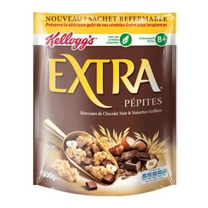 Paquet de Céréales Kellogg's Extra Pépites 500gr gratuit (via Shopmium - Avec 1.70€ sur la carte fidélité)