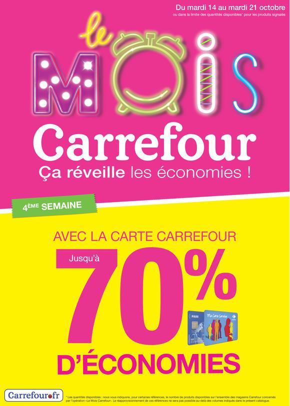 Optimisations du mois Carrefour (jusqu'à -70% sur la carte)