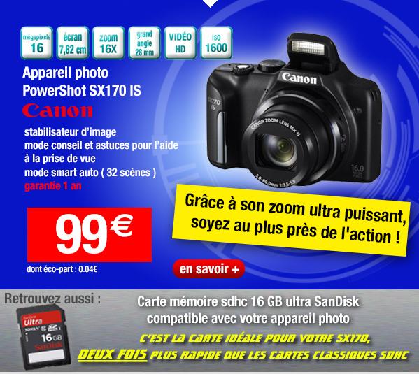 Appareil photo Canon PowerShot SX170 IS