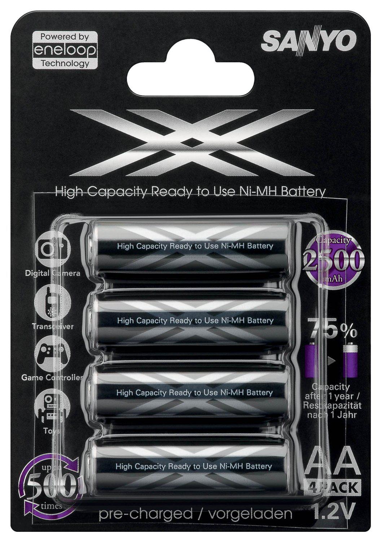 Piles rechargeables Sanyo Eneloop XX LR06 (AA) x4