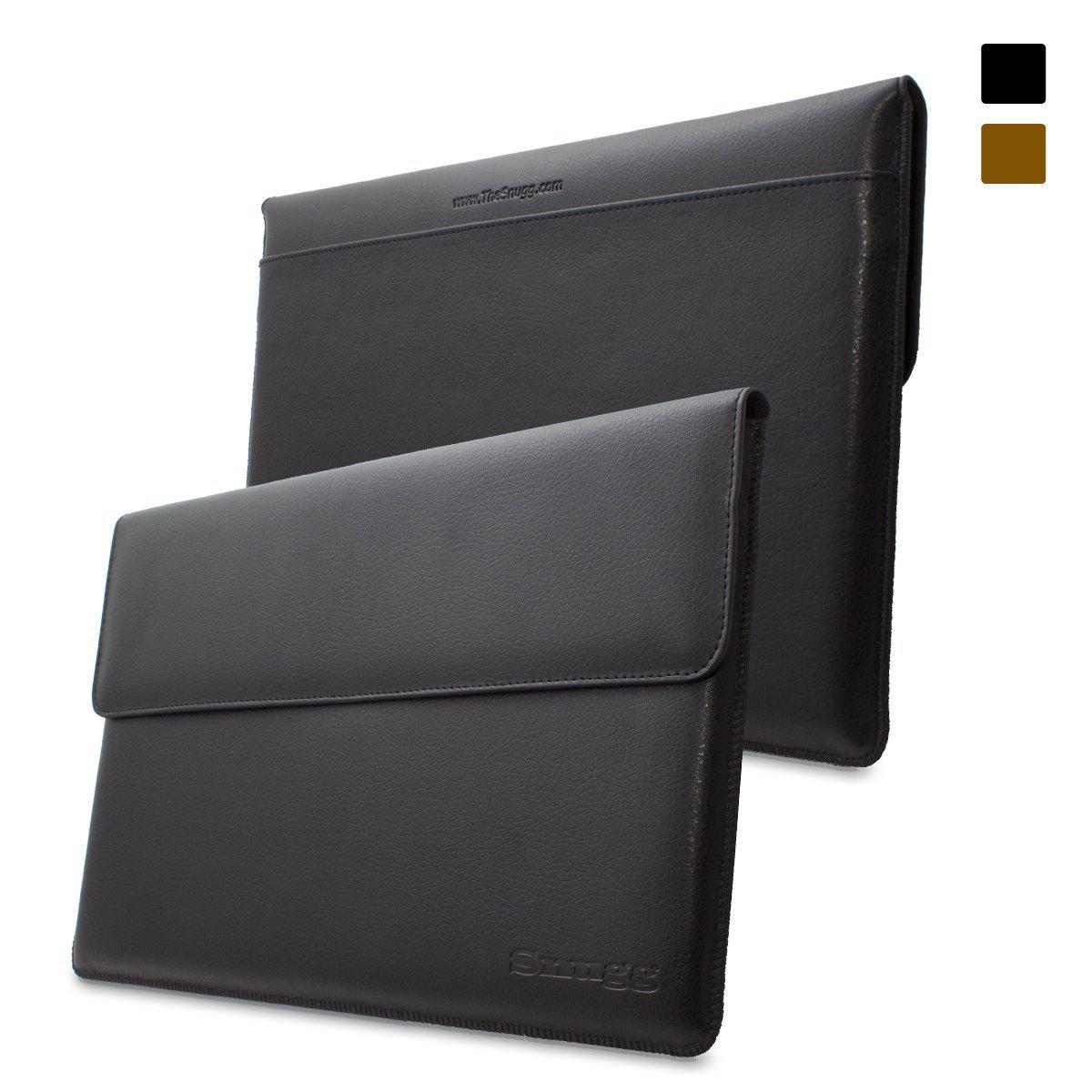 Pochette en cuir noir Snugg pour Microsoft Surface