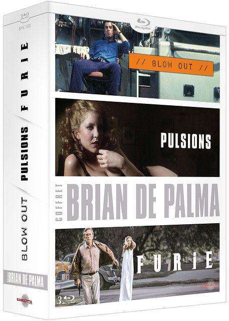 Coffret 3 Blu-Ray Brian De Palma : Blow Out + Pulsions + Furie