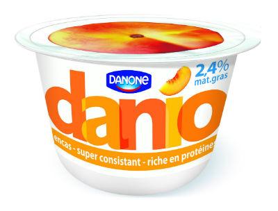 Pot de yaourt Danone Danio 150g parfum pêche gratuit (au lieu de 0,97€)