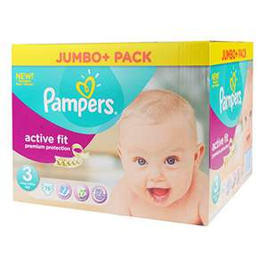Couches Pampers Taille 3 et 3+ Active Fit x70 (Jumbo Pack)